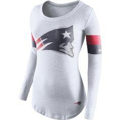 Women's New England Patriots White Kickoff Long Sleeve T-Shirt