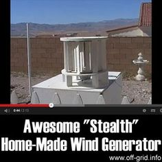 """This short, inspiring video introduction to the """"Stealth"""" wind turbine by imikewillrockyou shows a simple design of home electricity generator that is really elegant! This is a Vertical [...]"""