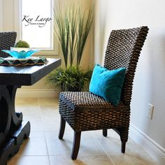 The Key Largo dining chair in a West Indies style dining room.  Hemingway would have loved this chair and you will too!