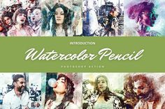 Watercolor Photoshop Action, Sketch Photoshop, Photoshop Actions, Watercolor Pencils, Watercolor Splatter, Colored Highlights, High Resolution Photos, Best Wordpress Themes, Photography Editing