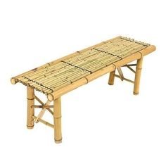 Bamboo Coffee Table Natural Garden Bench Portable Indoors Outdoors Elegant Art #BestChoiceProducts