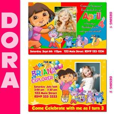 Dora Party Invitations Printable Free – Invitation Templates Word