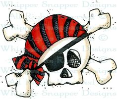 Pirate's Skull - Pirates - Rubber Stamps