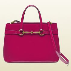Gucci Bright Bit Patent Leather Top Handle Tote Fab Bag Purses And Handbags Clutch