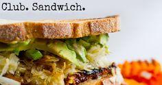 Vegan Tempeh Reuban Sandwich. Club Style!