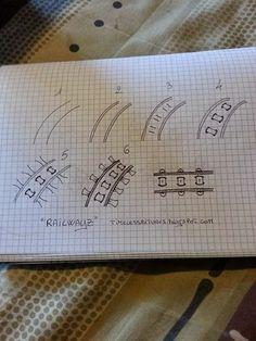 Kai-Zen Doodles: New Bunch of Patterns! 18th: Railwayz, 19th: Geerandola, 20th: Pin-Will, 21st: Drakon