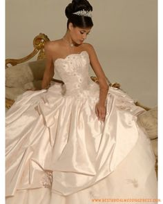 vintage strapless Satin Ball Gown Pick up Wedding Dresses Beautiful Wedding Gowns, Best Wedding Dresses, Bridal Dresses, Girls Dresses, Bridesmaid Dresses, Dream Wedding, Prom Dresses, Gown Wedding, Wedding Attire