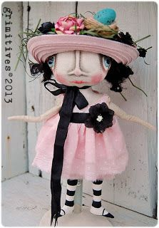 Sweet Tallulah Jane.... by doll artist Kaf Grimm of GRIMITIVES
