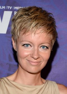 Axelle Carolyn looked hip with her messy pixie at the Variety and Women in Film Emmy nominee celebration.