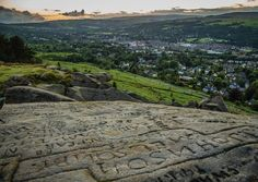 View from Cow an Calf rocks Ilkley. The whole rock is covered in carved graffiti some of it going back 200 years. . . . .#yorkshire #landscape #instagood #canon_photos