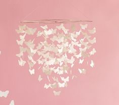 Wonderful DIY Pretty Butterfly Chandelier Mobile | The Art 123