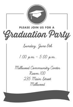 Free Printable Graduation Party Templates Printable Graduation - Party invitation template: graduation party invitation postcard templates free