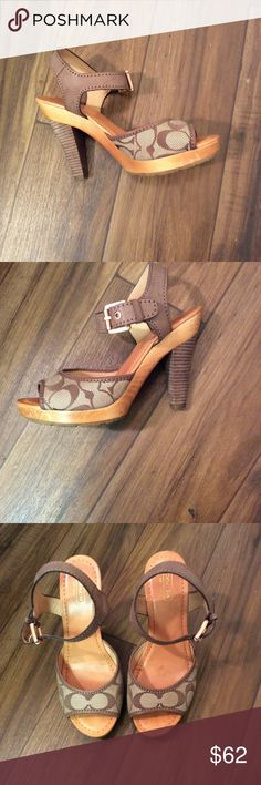 Coach Brown & Taupe Pumps SZ8 Coach Brown & Taupe Pumps SZ8 Worn only a few times. Great condition. Coach Shoes Heels