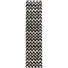 Madison Shag Passion Chevron Black Rug | Wayfair
