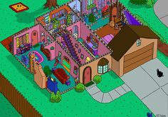 The Simpsons house cutaway