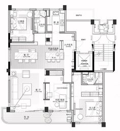 Pin by luxury interiors on floorplans in 2019 планировки, пл House Layout Plans, House Layouts, Craftsman Floor Plans, House Floor Plans, Modern Architecture House, Architecture Plan, Architectural Floor Plans, Interior Design Layout, Home Building Design