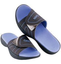 Avon: Curves® for Women After-Circuit Sandal intro price $19.99. Leatherlike upper with metallic fabric accent. Adjustable hook-and-loop closure. Whole sizes only. Half sizes, order one size up.  Curves is a registered trademark of Curves International, Inc. © 2013 Curves International, Inc.