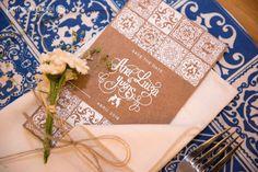 Save the date e identidade visual desenvolvida para o noivado.
