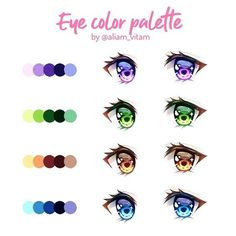 Some eye color palettes 👀 Which one is your favorite? There's a little tutorial to go with this too--I just have to add the text and… Eye Drawing Tutorials, Digital Painting Tutorials, Digital Art Tutorial, Art Tutorials, Eye Color Facts, Eye Color Chart, Palette Art, Eye Palette, Anime Tutorial