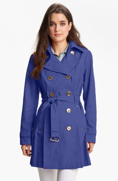 MICHAEL Michael Kors Double Breasted Trench Coat | Nordstrom