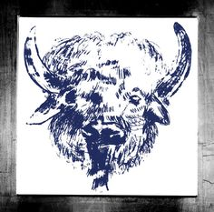 """Visit my ExcitementAdventure shop at etsy dot com for this giclee print of a silk-screen buffalo! You choose the size! All orders must be under 17"""" inches in height or width. I can customize any size for your frame, so long as it is under 17"""" inches. All work is printed on archival paper with inkjet. (Frame not included.) Thank you so very much for taking an interest in my work. I look forward to bringing you more paintings, drawings, and three-dimensional work in the future!"""