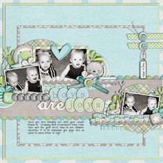 little boy layout in blue, green and grey web1