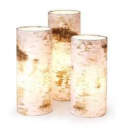 ❥ birch candles Very similar to a DIY candle project I featured on my blog at http://www.lilsuburbanhomestead@wordpress.com