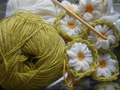 Daisy... Crochet, Daisy, Margarita Flower, Ganchillo, Daisies, Crocheting, Knits, Chrochet, Quilts