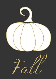 Fall pumpkin free printable