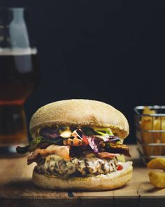 Burgers n Beers. Burgers, Hamburger, Foods, Ethnic Recipes, Hamburgers, Food Food, Food Items, Hamburger Patties