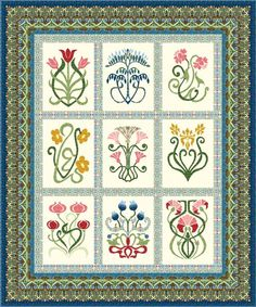 William Morris in Quilting: Quilt Gallery - Arts and Crafts Sampler - stunning!