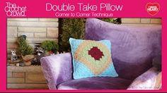 double crochet left handed - YouTube