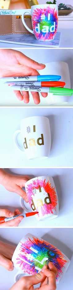 #1 Dad Mug | 25+ DIY Christmas Gifts for Dads & Grandfathers