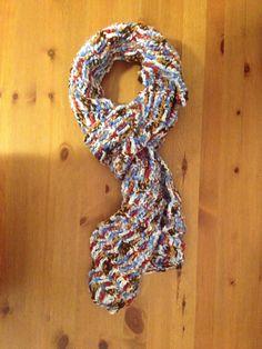 Unisex Scarf Handmade Crochet Varigated Yarn by SageandDeesVintage