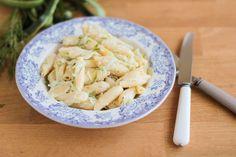 pâtes au concombre et à l'aneth - dill cucumber pasta
