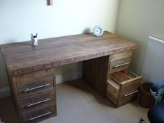 computer desk, free shipping, office desk, high quality, rustic