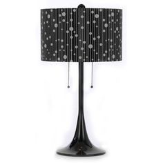 """Drizzle Spun Metal 29.5"""" Table Lamp with Drum Shade"""