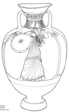 Ancient Greek Olympics Coloring Pages of two horses and