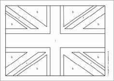 Union Flag colouring sheets