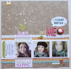 """Layout idea """"Just Me"""" featuring various Bella Blvd products. Loredana Bucaria for Bella Blvd."""