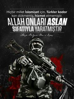 Allah yar ve yardımcınız olsun Turkish Military, Turkish Army, Army Wallpaper, Galaxy Wallpaper, Warrior Logo, Islam, Illustrations And Posters, Special Forces, Insta Story