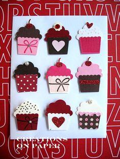 idées de réalisation avec la perfo cupcake stampin Up. Creations on Paper: The ABCs of a Cupcake - Cupcake Trims