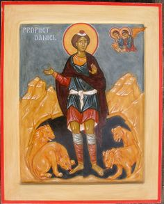 Prophet Daniel by Ann Margitich Byzantine Icons, Byzantine Art, St Daniel, Book Of Saints, Best Icons, Icon Collection, Old Testament, Orthodox Icons, Sacred Art