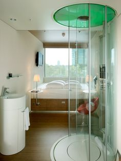 "Citizen M Hotel in Amsterdam  ""the best showers this side of the rainforest."""