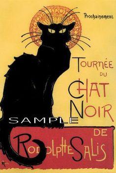 ''Tournee du Chat Noir'' Classic Poster Cross Stitch Chart