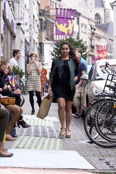 Jacket ArmedAngels, top Päälä, skirt Fair+Fair, shoes Swedish Hasbeens