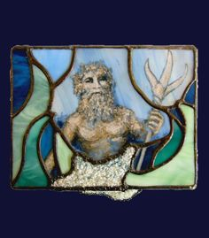 Poseidon Oceanus a stained glass box by BeeTreeGlass on Etsy, $255.00