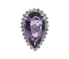 14K Gold 20ct Amethyst Diamond Cocktail Ring Available @ hamptonauction.com at the Fine Jewelry Watches Coins and Collectibles Auction on January 26, 2015! Come preview our catalog!