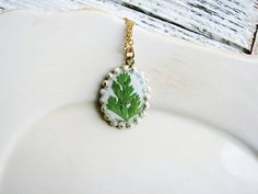 Fern Necklace Real Pressed Leaf Jewelry Resin by KateeMarie