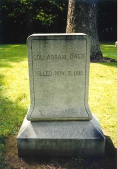 Soldiers Who Died at the Battle of Tippecanoe - my Great-great-great-great-great grandfather